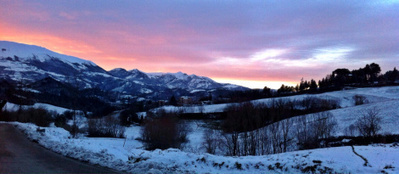 "Skiing & Stunning Sunsets Over The Sibillini""s 