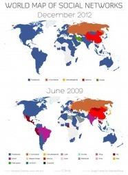 La carte du monde des réseaux sociaux | Tendance, blog, photo | Scoop.it