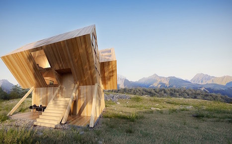 Asymmetrical Cabin Design Inspired by the Surrounding Dolomite Mountains | Le It e Amo ✪ | Scoop.it