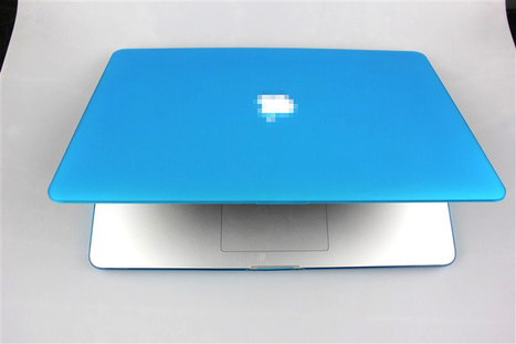 "Frosted Hard Case Cover Shell With Cutout for Apple Macbook Pro Retina 15"" A1398 Sky-blue 