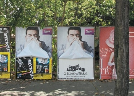 Affichage mouchoir | streetmarketing | Scoop.it