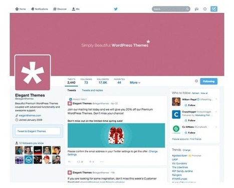 The Best Twitter Widget Plugins for WordPress   Elegant Themes Blog   WordPress and Blogging   Scoop.it