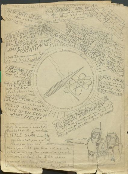 Image of the Day: Carl Sagan's Childhood Drawing of His Vision of Outer Space | Bioinformatics Training | Scoop.it