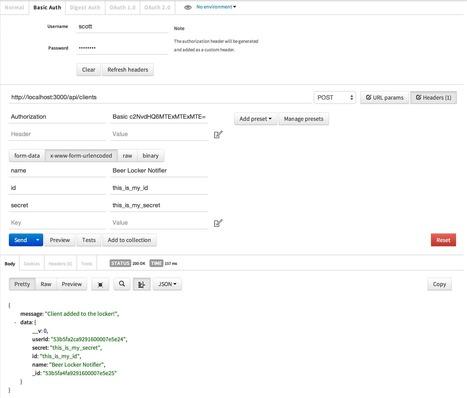 Beer Locker: Building a RESTful API with Node - OAuth2 Server - Scott Smith | Web App development with Node.js | Scoop.it