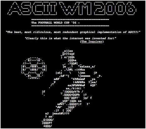 ASCII-WM 2006 was a live ASCII-broadcast of the world cup in... | ASCII Art | Scoop.it