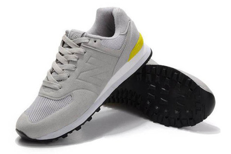 Mens new balance MS574GY Sonic light Grey Yellow Shoes | share list | Scoop.it