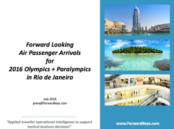 Forwardkeys - 2016 Olympics & Paralympics Air PAX Arrivals | Travel Retail | Scoop.it