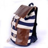 Best sailor striped backpack | personalized canvas messenger bags and backpack | Scoop.it