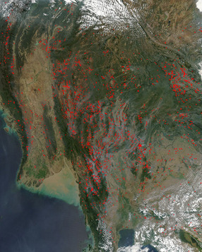 MODIS : Fires in Indochina | Remote Sensing News | Scoop.it