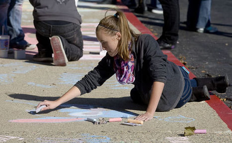 Mount Zion Chalk art nets $500 for animal shelter - Herald & Review | Art & Music | Scoop.it