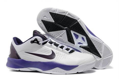 Kobe Bryant Venomenon 3 White/Court Purple/Black Colors Mens Basketball Shoes | new style | Scoop.it