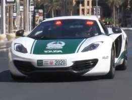 Dubai gets new McLaren MP4-12C police vehicle ... - Exotic Car Tours | players car rental | Scoop.it