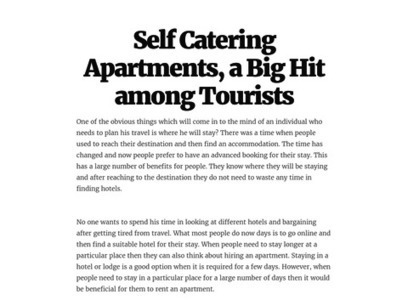 Self Catering Apartments - Popular among Tourists   Rasmusliving.co.uk   Scoop.it