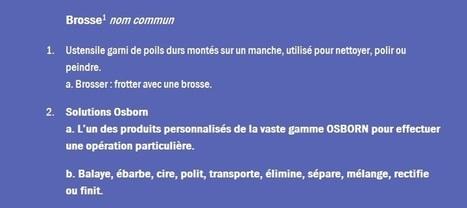 (FR) - Aperçu général des types de brosse standard et outils adéquats | Osborn | Glossarissimo! | Scoop.it