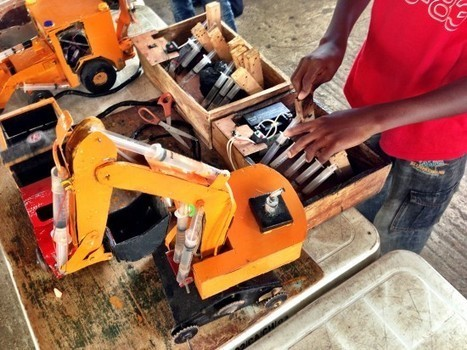 A 15 y/o Nigerian Boy's Hydraulic Toys : Maker Faire Africa | kaleidoscope | Scoop.it