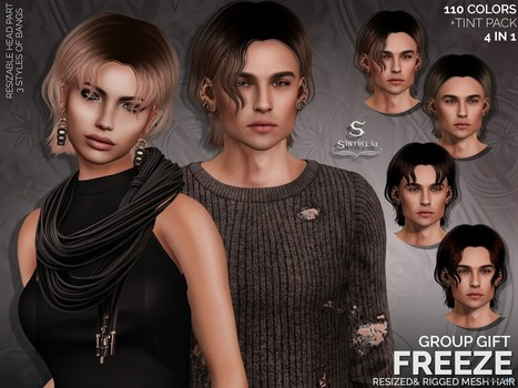 Freeze Hair Unisex Group Gift by Sintiklia | Teleport Hub - Second Life Freebies | Second Life Freebies and bargains | Scoop.it