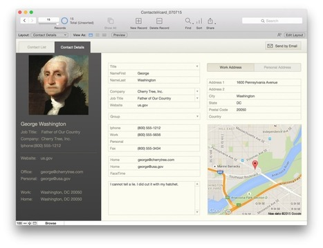 Importing vCards using Insert from URL | FileMaker News | Scoop.it