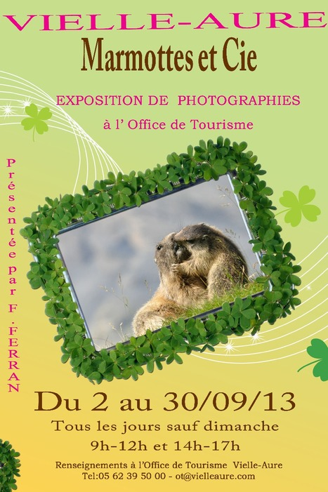 Les marmottes s'exposent à Vielle-Aure jusqu'au 30 septembre | Vallée d'Aure - Pyrénées | Scoop.it