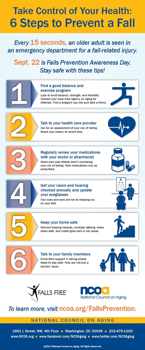 Take Control of Your Health: 6 Steps to Prevent a Fall | Fall prevention in older adults | Scoop.it