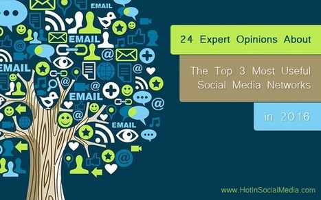 24 Expert Opinions About The Top 3 Most Useful Social Media Networks in 2016 | Take Your Social Media to the Next Level | Scoop.it