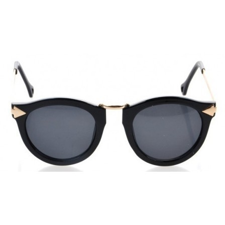 Lunette de soleil Noir et dorée Old School forme rectangle | Vintage Sunglasses | Scoop.it