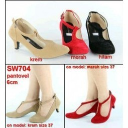 Heels Pantovel Bludru - AyeshaShop.Com | Tentang Baju Korea | Scoop.it