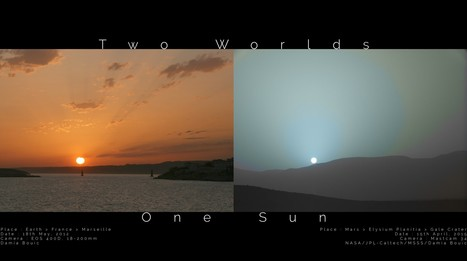 Two Worlds, One Sun: Blue Sunsets on Mars | Amazing Science | Scoop.it