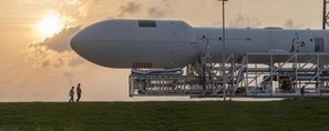 SpaceX Falcon 9 ready to loft Turkmenistan's first satellite   NASASpaceFlight.com   The NewSpace Daily   Scoop.it