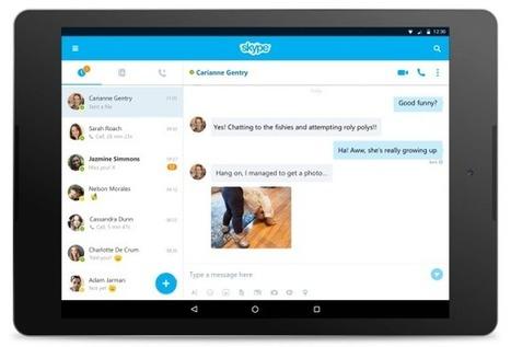 Skype pour Android est désormais adapté aux tablettes | Ressources pédagogiques, former par le numérique | Scoop.it