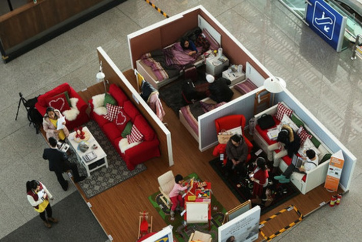 Couch before Coach: IKEA Lures Sleepers With Showroom in Beijing Airport | Travel Retail | Scoop.it
