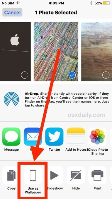 How to Set Any Picture as Background Wallpaper on iPhone & iPad - OSXDaily | Daring Gadgets, QR Codes, Apps, Tools, & Displays | Scoop.it
