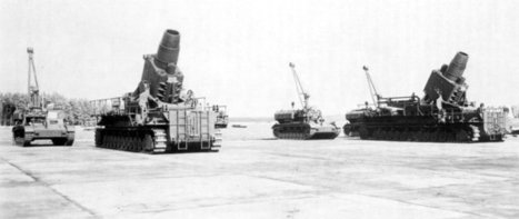 Two 600mm (24in) mortars with ammo transporters | VIM | Scoop.it