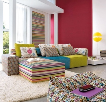 Colorful Interiors: using bold colors | PEI AUDIT | Scoop.it