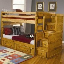 Full Over Full Bunk Bed with Stairs | Functional Home Furniture | Scoop.it