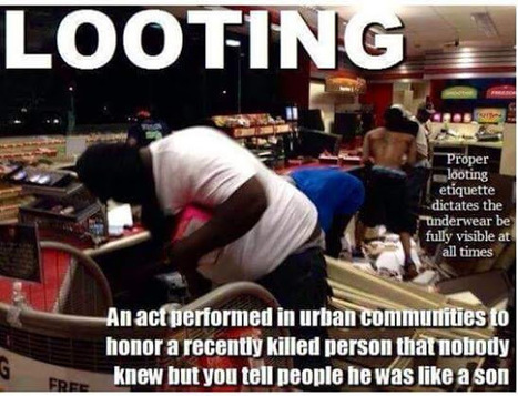 Peaceful protesting does not include looting and rioting! Just FYI ... | Criminal Justice in America | Scoop.it