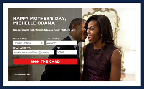 """Happy Mother's Day, Michelle Obama"" 