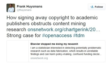 Text-mining block hiders data-based research | Open Access to Scholarly Publishing | Scoop.it