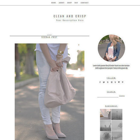 Blogger Template - Clean & Crisp - Blogger Theme -  Fashion Blogger Template - Food Blog - Beauty Blogger Template by CWebsBiz | Blogger themes | Scoop.it