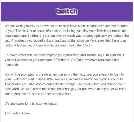 Twitch piraté, mots de passe envolés - l'Informaticien | Cloud as a Service | Scoop.it