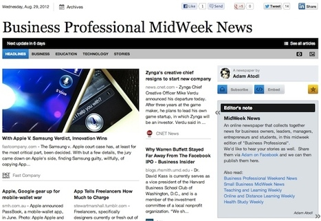 Aug 29 - Business Professional MidWeek News | Business Updates | Scoop.it