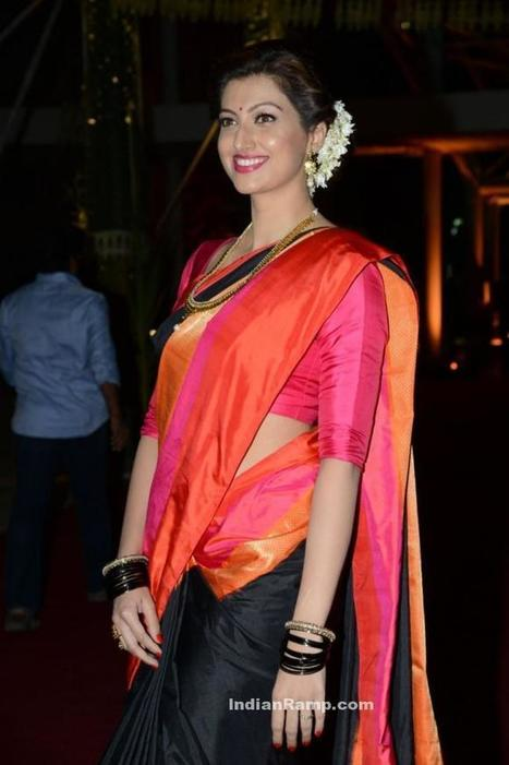 Hamsa Nandini in Traditional Saree at PVP daughter's Half Saree function, Actress, Indian Fashion, Tollywood | Indian Fashion Updates | Scoop.it