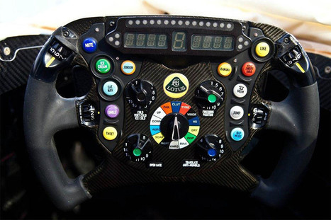 Lotus F1 steering wheel with Tweet button ~ Grease n Gasoline | Formula1 News | Scoop.it