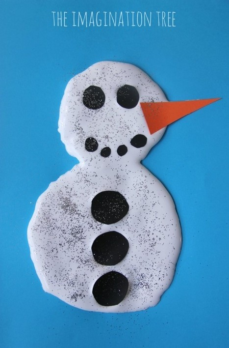 Snow Puffy Paint Recipe - The Imagination Tree | Learn through Play - pre-K | Scoop.it
