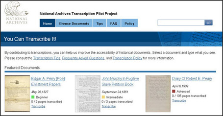 NARAtions » Introducing the National Archives Transcription Pilot Project! | The Information Professional | Scoop.it