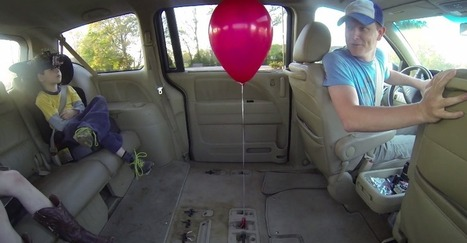 Prepare to Have Your Mind Blown by a Balloon and a Minivan | Strange days indeed... | Scoop.it
