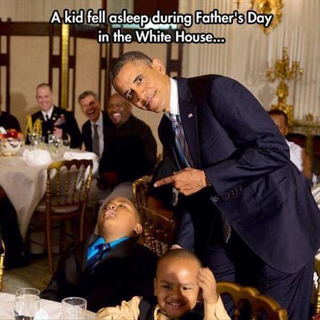 Kid falls asleep during Obama speech at White House | Humor | Scoop.it