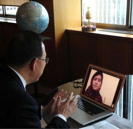UN Secretary General Ban Ki-moon Speaks with Malala | Connect All Schools | Scoop.it