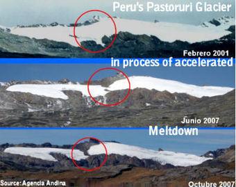 Global warming impact: Peru's Pastoruri glacier recedes into two patches of ice | Andean Glaciers | Scoop.it