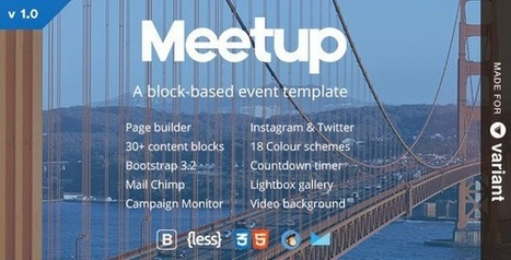 Meetup Event Template With Page Builder - Download New Themes | Sports & Entertainment | Scoop.it