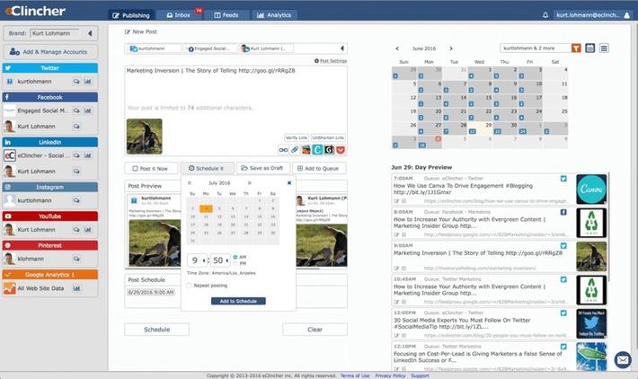 eClincher. Un outil complet pour gérer tous vos réseaux sociaux – Les outils de la veille | TIC et TICE mais... en français | Scoop.it